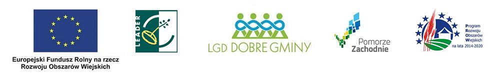 Logotypy - LGD - LEADER - UE - Pomorze Zachodnie - PROW